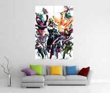 AVENGERS ASSEMBLE IRON MAN HULK THOR MARVEL GIANT WALL ART PRINT POSTER H4