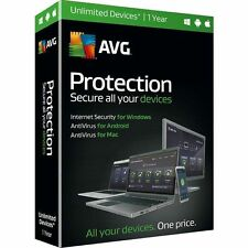 Original Retail Box - AVG Protection 2016 Unlimited Devices 1 Year
