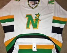 NEW VTG AUTHENTIC 1981-1982 MINNESOTA NORTH STARS MITCHELL & NESS JERSEY 60 SEWN