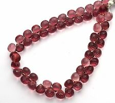 """Kunzite Gem Color Hydro Quartz Faceted 10MM Onion Shape Briolette Beads 11"""""""