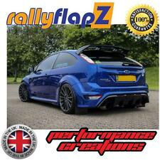 Rally Style Mudflaps FORD FOCUS RS Mk2 RS500 Mud Flaps rallyflapZ Black PU
