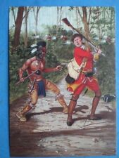 POSTCARD AMERICAN - INDIAN WARS - A HURON WARRIOR 44 REGT OF FOOT 1755