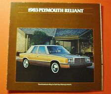 1983 PLYMOUTH RELIANT SHOWROOM SALE BROCHURE ..18- PAGES