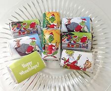 50 THE GRINCH CHRISTMAS PERSONALIZED MINI CANDY BAR WRAPPERS PARTY FAVORS
