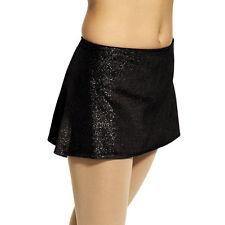 mondor figure skating skirt-glitter-velvet-6X-7