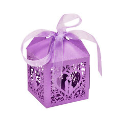 10/50/100pcs Pretty Married Wedding Favor Box Gift Boxes Candy Party Paper Bags