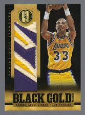2012-13 Gold Standard Kareem Abdul-Jabbar Black Gold Prime Patch #3/5 Lakers