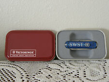 VICTORINOX SWST SOUTHWEST SECURITIES Sapphire Blue Key Chain Knife in Metal Box