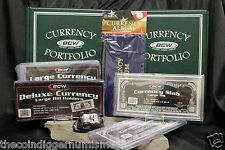 CURRENCY COLLECTING KIT LARGE SIZE Banknotes Albums Sleeves Toploaders Slabs