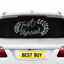 NEW Just Married Wedding Car Decal Sticker Window Removable Banner Vehicle Decor
