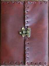 Handmade Brown Tooled Leather Blank Journal Diary Sketch Notebook Book (569)