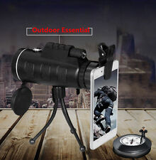 Hot PANDA 40X60 HD Dual Focus Optical Prism Monocular Telescope + Tripod + Clip