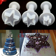 Star Mold Sugarcraft Cupcake Cake Decorating Fondant Icing Plunger Cutter Tools