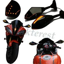 MOTORCYCLE LED TURN SIGNALS LIGHTS REARVIEW SIDE MIRRORS FOR Suzuki SV1000S 650S