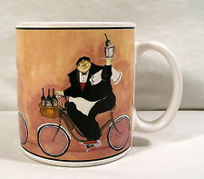 Collectible Kitchen Chefs Decor, Chef Riding Bike Mug by Sakura, Jennifer Garant