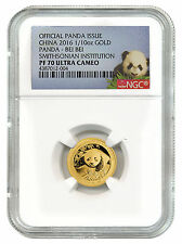 2016 China 1/10 Oz Proof Gold Smithsonian Panda Bei Bei NGC PF70 UC SKU40829