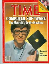 magazine time MICROSOFT  WINDOWS  BILL  GATES  APRIL 16 1984  NO LABEL