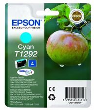 Genuine Epson T1292 Cyan Ink Cartridge for Stylus SX440w SX438w SX430w SX445w