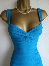 Jane Norman blue bodycon bandage dress size 10 8