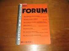 1930 Forum Magazine, Dean Inge, Mary Austin, Nathan, Morocco, Art Works, ETC