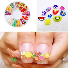 Fashion DIY Nail Art Wheel Gorgeous Manicure Fruit Slice Beauty Accessories
