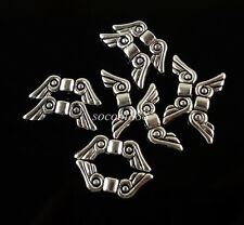 wholesale 30pcs Tibetan silver Angel wings charm Spacer Beads 16mm