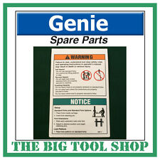 Genie SLA Material Lift Fork Warning Decal Sticker 32687 Spare Part