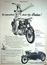Vintage 1954 INDIAN Models 'S' & 'R' Motor Cycles ADVERT #1 - Original Print AD