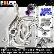 Intercooler Piping Kit+BOV fit90-94Eagle Talon TSi Hatchback 3D 2.0 DSM 1G 4G63