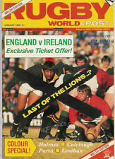 RUGBY WORLD MAGAZINE JANUARY 1986 - PERFECT GIFT FOR A FAN BORN IN THIS MONTH