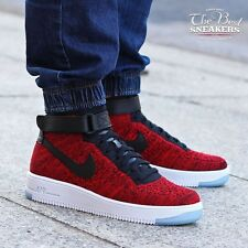Nike Air Force 1 Ultra Flyknit Mid University Red UK 6 EUR 40 VERY RARE!!