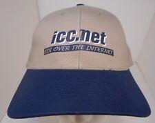 Vintage icc.net Trucker Cap HAT Adjustable Blue