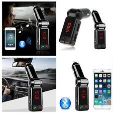 Bluetooth Car Kit FM MP3 Handsfree Speakerphone with AUX/Dual USB Charging Port