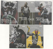 2014 Marvel Universe Origins Complete insert Set ( 5 Cards)W/Vision-Thor-Witch++