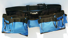 15 Pocket Slot Pouch Tool Belt Bag Electrician Carpenter Contractor Construction