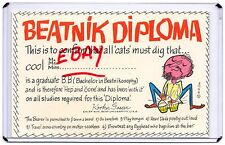 BEATNIK DIPLOMA,KOOKIE GASSER PLAYING BONGO DRUMS,HE'S WITH IT,HEP & GONE 1959