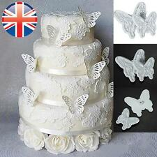 *UK Seller* 2X Butterfly Fondant Sugarcraft Cake Decorating Icing Plunger Cutter