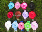 New Style Crochet headband Gerbera Daisy flower children headbands kid baby gift