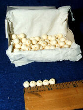 Box of 100 Round Bone Beads White 6 mm Native Crafts Jewelry Making
