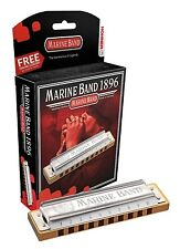 "Hohner Marine Band Harmonica 1896BX in the Key of ""C#"" + Bonus Hohner Harp!"