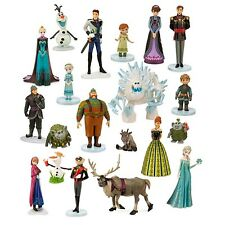 NIB Disney Store Frozen Mega Figure Playset PVC Figurine Cake Topper Play Set