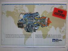 9/1990 PUB PRATT & WHITNEY CANADA PW300 TURBOFAN ENGINE BAE 1000 ORIGINAL AD