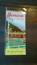 HARRISON HOT SPRINGS HOTEL  THE SPA OF CANADA PULL OUT FOLDER BC IN COLOR