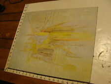 """ORIGINAL unsigned 16 x 20"""" Abstract Painting"""
