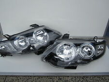 Ford Falcon FG XR Turbo Black Angel Eyes Headlights with halo rings XR6 XR8 new