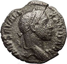 SEVERUS ALEXANDER with spear &  globe 230AD  Ancient Silver Roman Coin  i18051