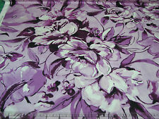 3 Yards Quilt Cotton Fabric - Maywood Love Flows Large Floral Tone Dark Magenta