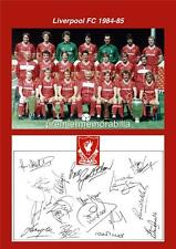 LIVERPOOL FC 1984-1985 KENNY DALGLISH IAN RUSH BRUCE GROBBELAAR SIGNED (PRINTED)