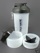 Trueware Ultra power Protien 3 in 1 Shaker bottle +700ml, Milk shake+BPA Free
