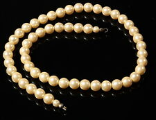 """17"""" necklace strand (54) vintage Czech early faux pearl coated glass beads"""